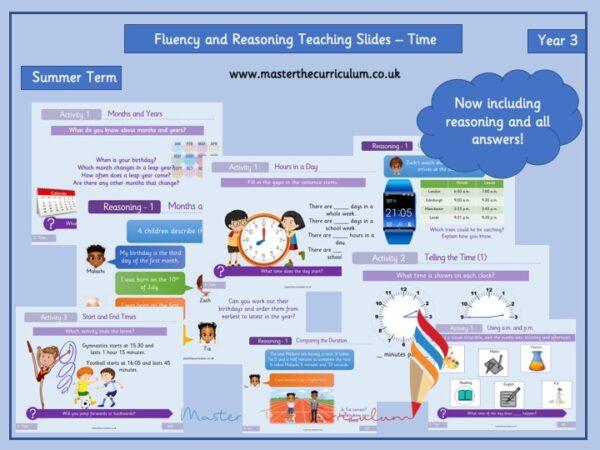 Editable Time Teaching Slides- Year 3 Maths Measurement