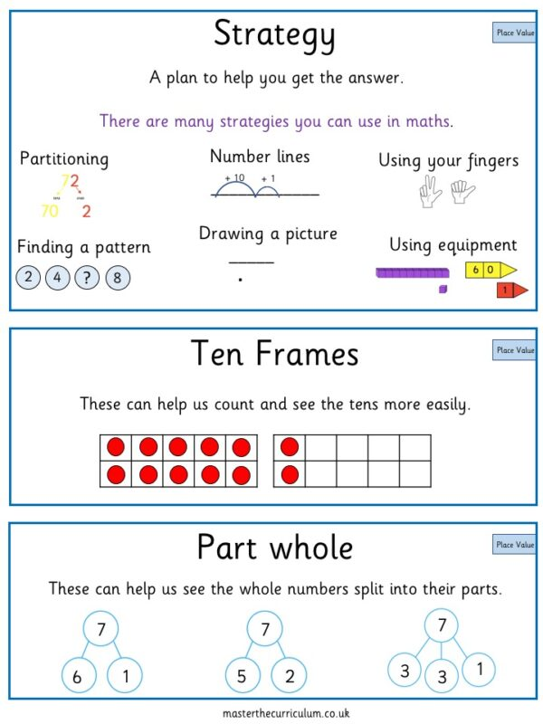 Editable Year 3 Place Value Vocabulary Cards 4