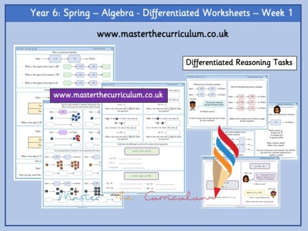 Year 6:Spring - Algebra - Differentiated Worksheets - Week 1