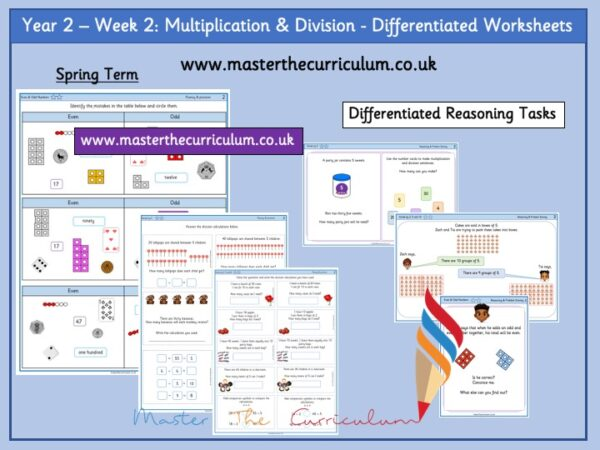 Year 2:Multiplication & Division - Differentiated Worksheets - Week 2