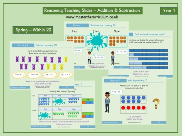 Year 1 – Spring – Addition & Subtraction Reasoning Slides