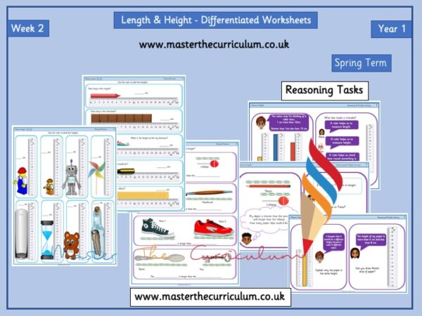 Year 1 – Spring – Week 2 – Editable Length & Height Differentiated Sheets