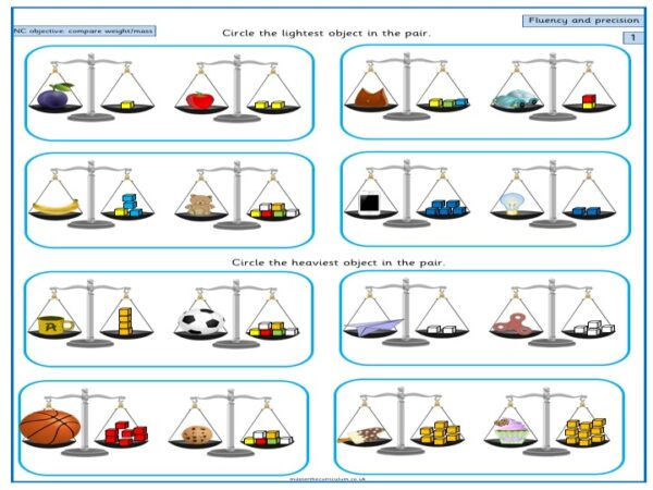 Year 1 Maths Free Resource Compare, describe and solve practical problems for mass_weight - 3