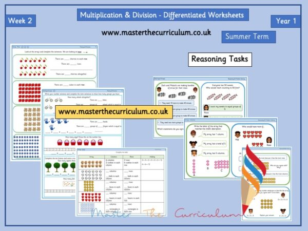 Year 1- Multiplication And Division Worksheets – Summer – Week 2