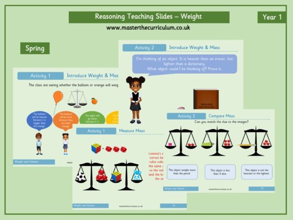Year 1- Weight And Mass Reasoning Teaching Slides