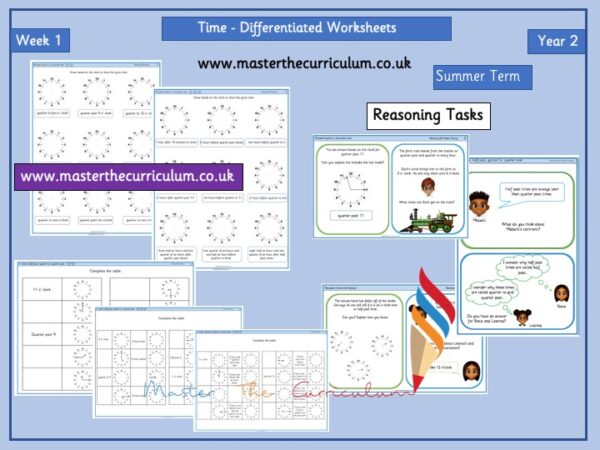 Year 2– Summer – Week 1 – Editable Time Differentiated Sheets