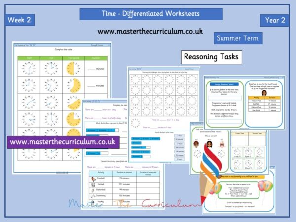 Year 2– Summer – Week 2 – Editable Time Differentiated Sheets