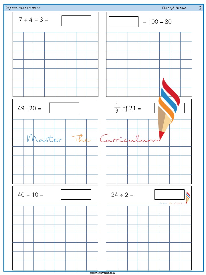 Year 2 Mixed arithmetic (13)