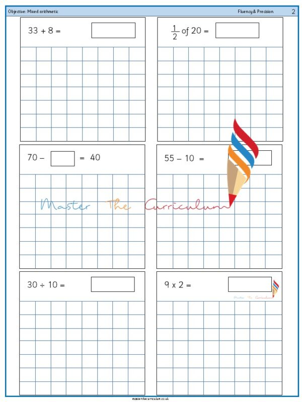 Year 2 Mixed arithmetic (7)