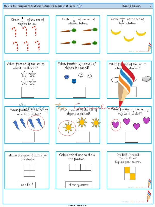 Year 2 Recognise, find and write fractions of a discrete set of objects (1)