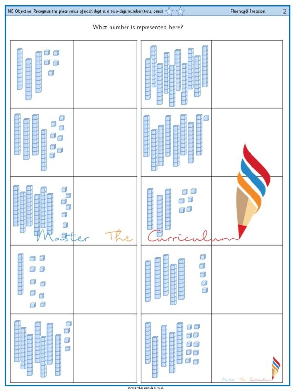 Year 2 Recognise the place value of each digit in a two-digit number (tens, ones) (3)