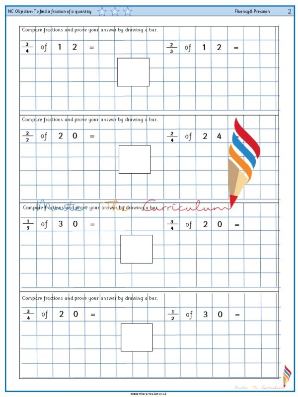 Year 2 To find a fraction of a quantity (3)