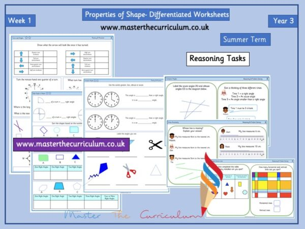 Year 3– Summer – Week 1 – Editable Properties of Shape Differentiated Sheets