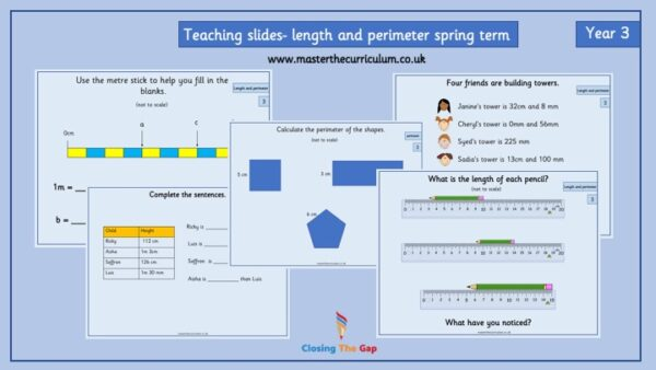Year 3 – Editable Length and Perimeter Teaching Slides