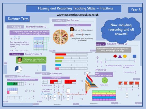 Year 3 – Editable Summer Fractions Teaching Slides