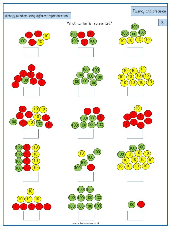 Year 3 Maths Number and Place Value Identify, represent and estimate numbers using different representations - 1