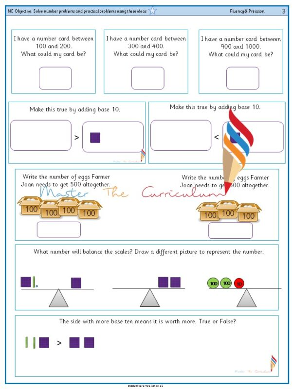 Year 3 Solve number problems and practical problems using these ideas (1)