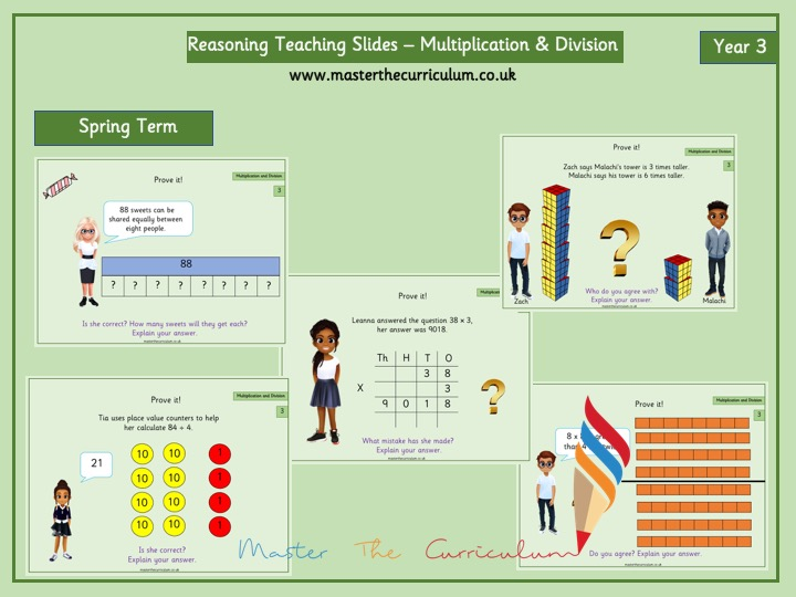 Year 3- Spring Term – Reasoning Multiplication & Division Slides