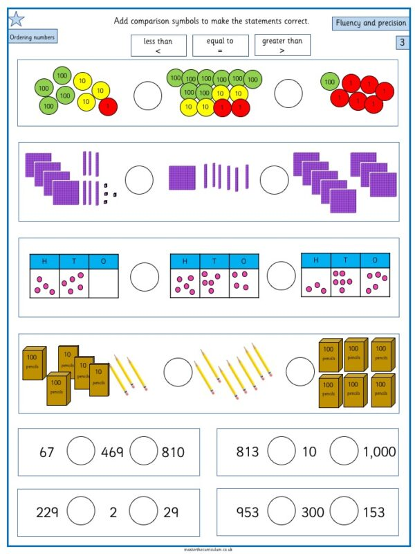 Year 3- Week 3 Editable Differentiated Place Value Worksheets 2