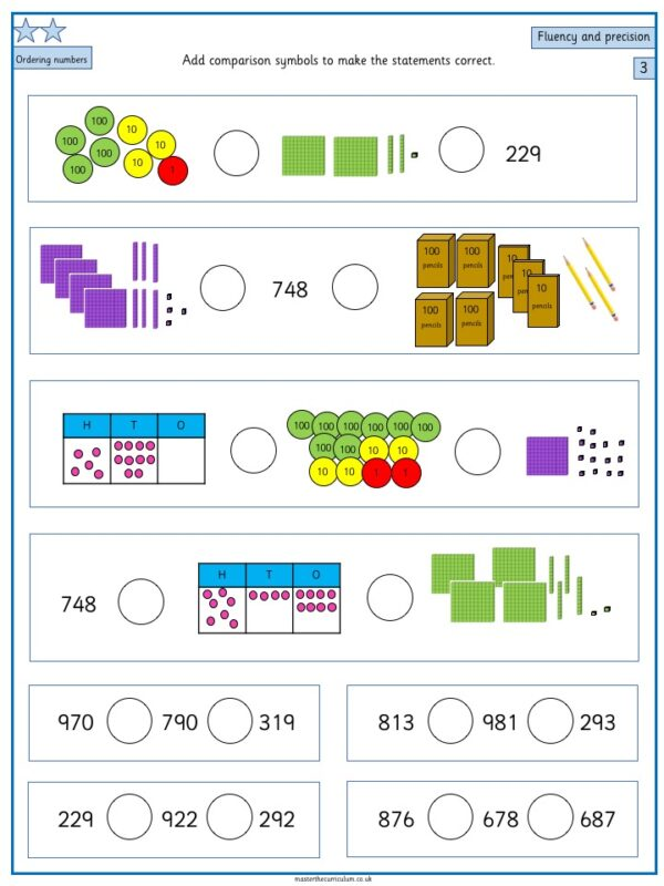 Year 3- Week 3 Editable Differentiated Place Value Worksheets 3