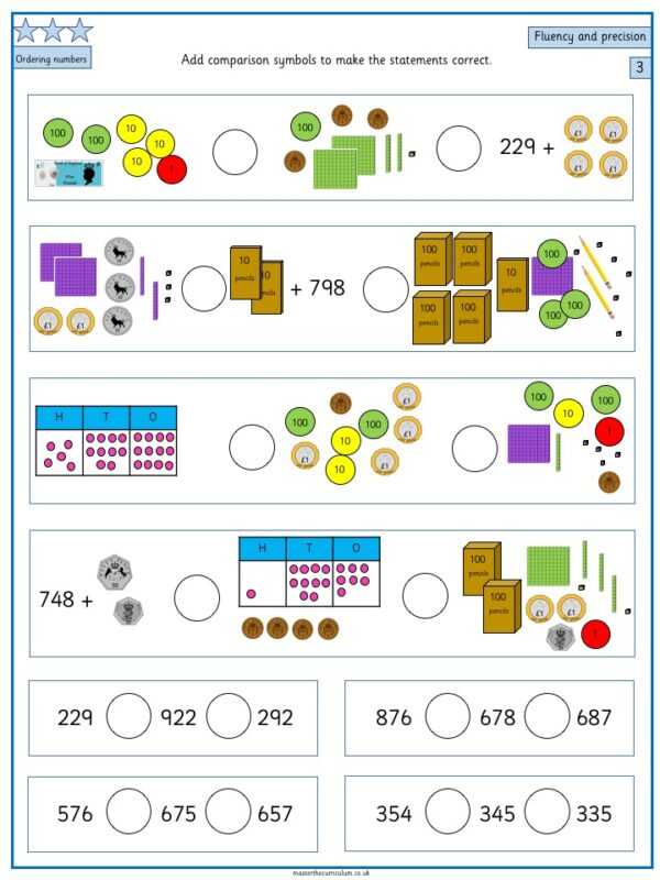 Year 3- Week 3 Editable Differentiated Place Value Worksheets 4