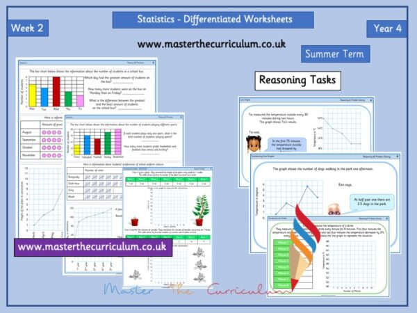 Year 4– Summer – Week 2 – Editable Statistics Differentiated Sheets
