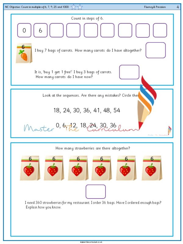 Year 4 Count in multiples of 6, 7, 9, 25 and 1000 (3)