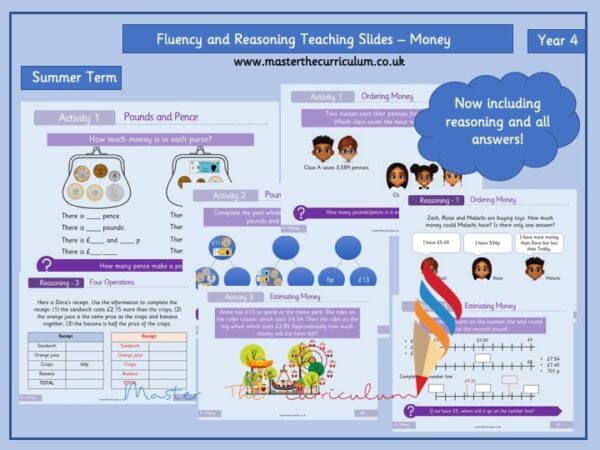 Year 4- Money – Summer Block 2 Fluency and Reasoning Slides