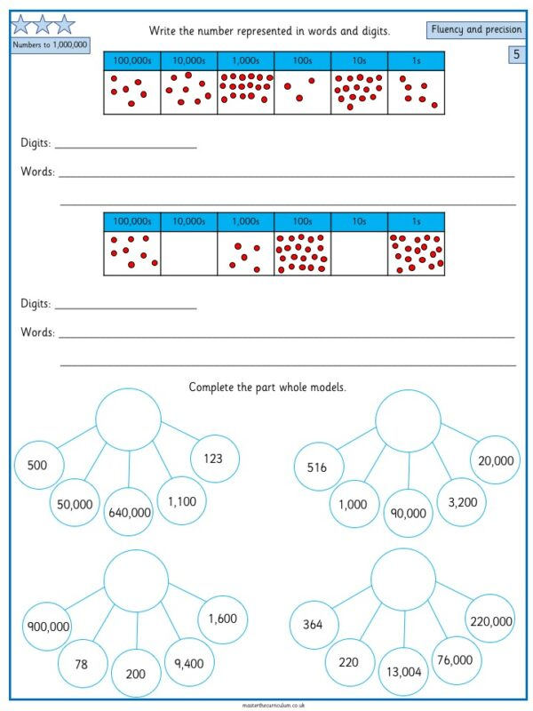 Year 5- Week 3 Editable Place Value Differentiated Worksheets 4