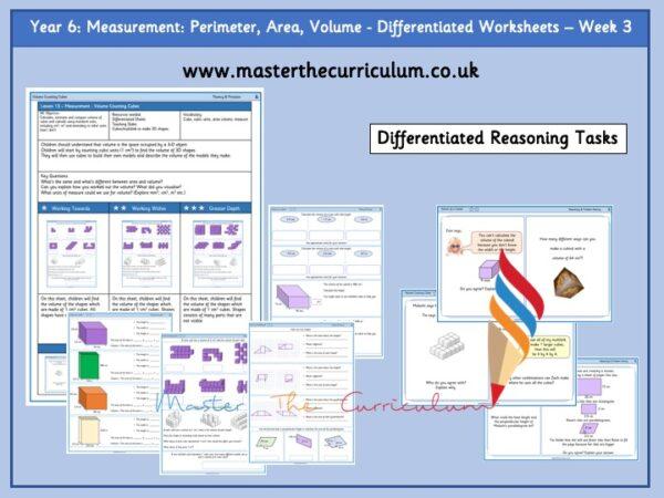 Year 6 Measurement- Perimeter, Area and Volume week 3 Pic